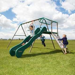 Lifetime Climb & Slide Brown/Tan/Green Powder-Coated Steel Playset