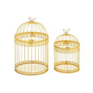 Unique And Attractive (Set Of 2) Acrylic Bird Cages