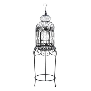 Victorian Style Bird Cage With Wrought Iron