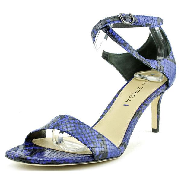 Via Spiga Women's 'Leesa' Blue Snakeskin Print Leather Sandals