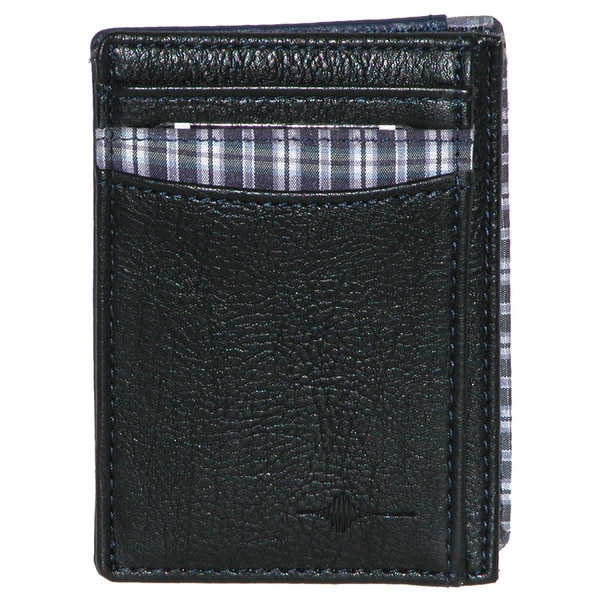 Buxton Tulsa RFID Black Leather Front-pocket Getaway Wallet
