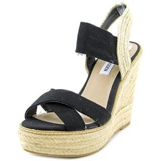 Steve Madden Women's 'Eira' Black Fabric Sandals