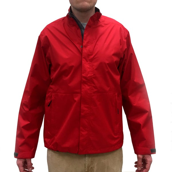 Narragansett Men's Traders Red Nylon Lightweight Waterproof Full Zip Jacket