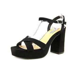 Steve Madden Women's 'Elie' Black Regular Suede Sandals