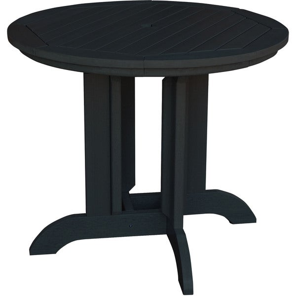 Black Plastic Wood-finished 30-inch X 48-inch X 48-inch