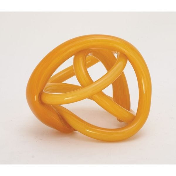 Enticing Glass Orange Knot