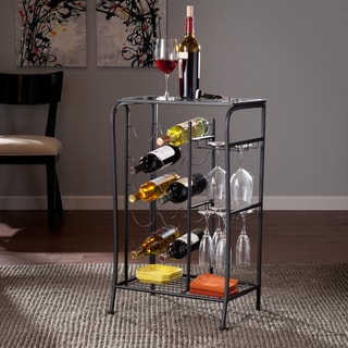 Upton Home Marlena Black Wine Rack Storage Table