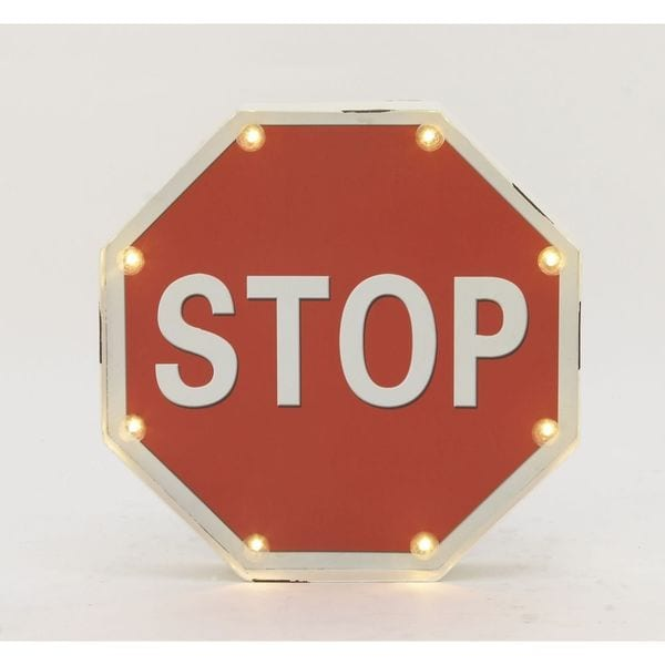 Innovative Metal LED Stop Sign