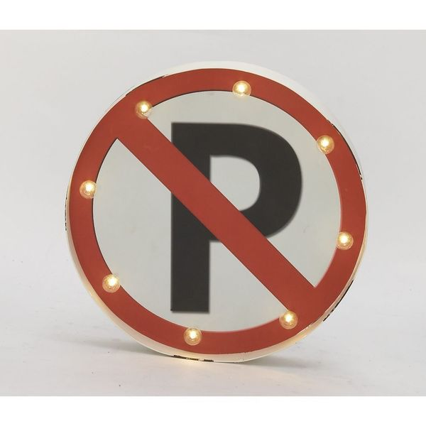 Exclusive Metal LED No Parking Sign
