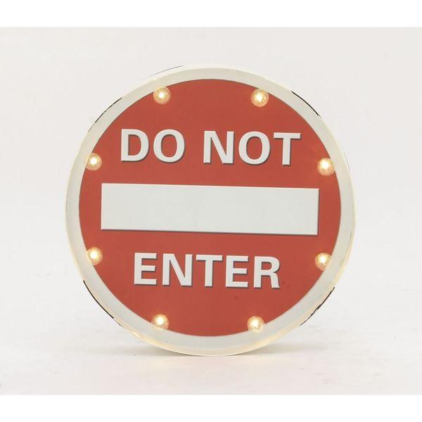 Funky Metal LED Do Not Enter Sign