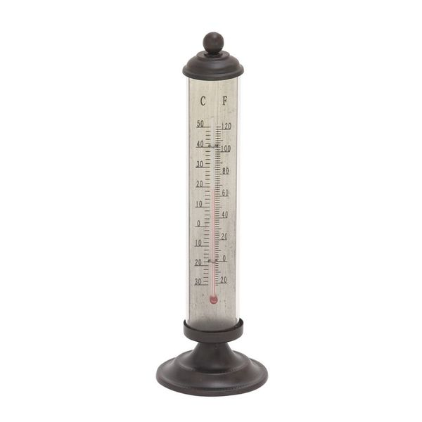 Simple Metal Black Thermometer