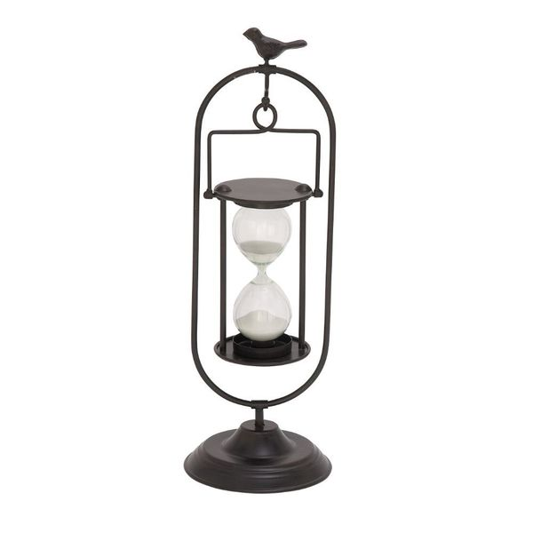 Exclusive Metal Glass Min Black Hourglass