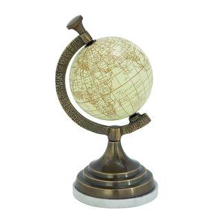 Striking Aluminum Marble Globe