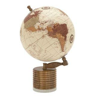 Stunning Wood Metal Marble Globe