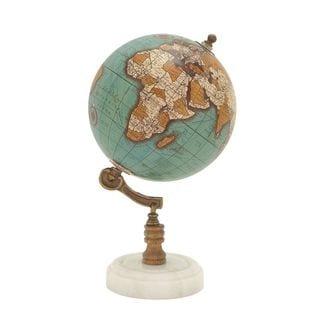 94448 Classy Wood Metal Marble Globe