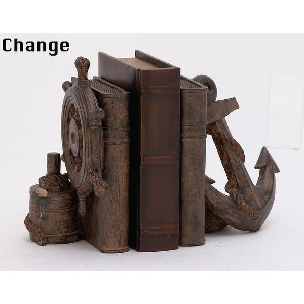 Eye-Catching Nautical Bookend Pair
