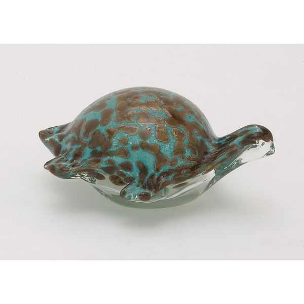 Stylish Glass Teal Turtle