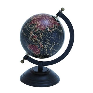 Elegant Metal Wood Globe With Contemporary Elegance