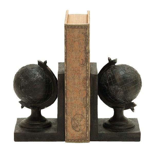 World Globe Themed Book End Set