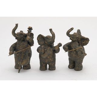 Creative Set Of Three Ps Elephant Musicians