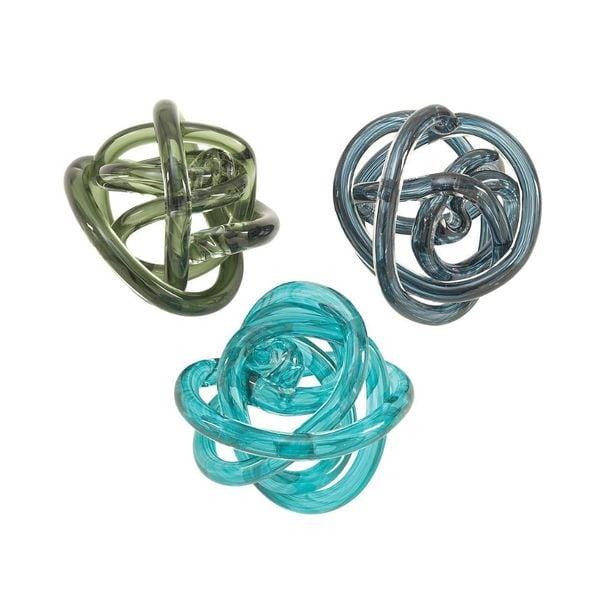 Unusual Glass Knots 3 Assorted