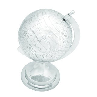 Globe In Silver Finish With Intricate Detail Work