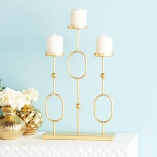 Elegant Metal Gold Candelabra