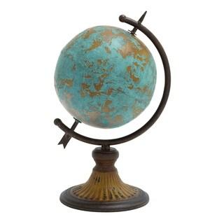 Antique Metal Globe In A Rustic Design