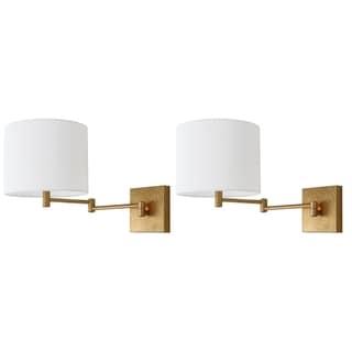 "Safavieh Lighting Lillian Gold Leaf Wall Sconce (Set of 2) - 22.5""x11""x12"""