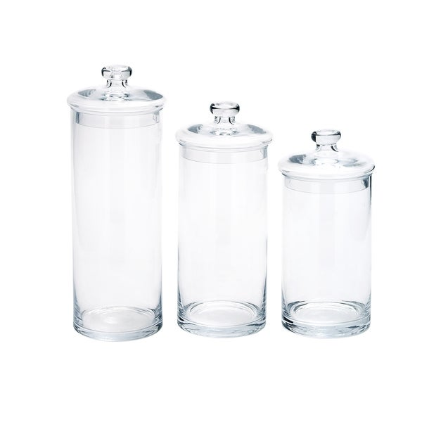 Glass (Set Of 3) Jars