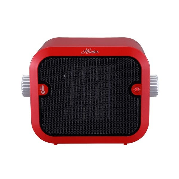 Hunter 1500W Retro Red Ceramic Space Heater
