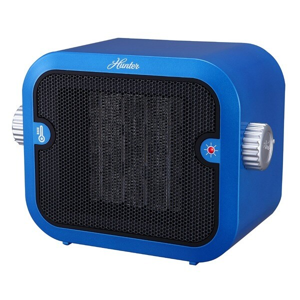 Hunter 1500W Retro Blue Ceramic Space Heater