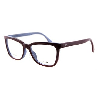 Fendi FF 0122 MFU Burgundy on Azure Plastic 53mm Eyeglasses