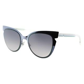 Fendi FF 0133 NPY Blue And Emerald Cream Metal Grey Gradient Lens Sunglasses