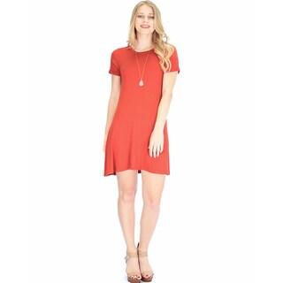 Lyss Loo Women's T-Shirt Tunic Dress