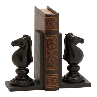 Exquisite Polystone Chess Bookend Polyresin
