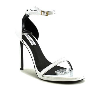 Steve Madden Women's Gea White Patent High-heel Sandals