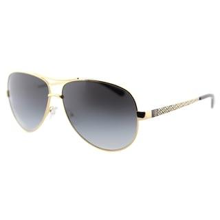 Tory Burch TY 6035 106R5 T-Print Aviator Gold Black Metal Aviator Grey Gradient Lens Sunglasses