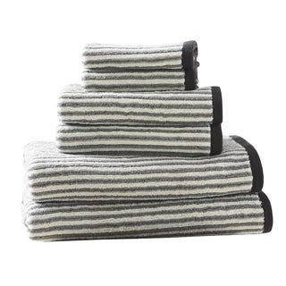 HipStyle Dax Grey Cotton Jacquard Towel Set