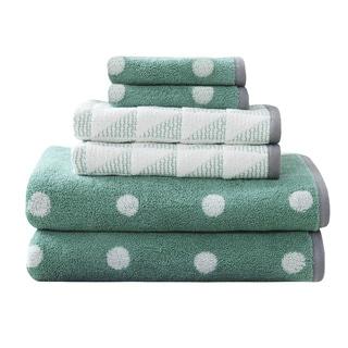 HipStyle Kylee Aqua Cotton Jacquard Towel Set