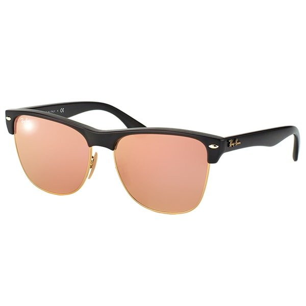 Ray-Ban Oversized Clubmaster RB 4175 877/Z2 Demi Shiny Black Clubmaster Plastic Sunglasses