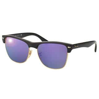 Ray-Ban Oversized Clubmaster RB 4175 877/1M Demi Shiny Black Clubmaster Plastic Sunglasses