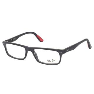 Ray-Ban RX 5277 2077 Sandblasted Black Rectangle Plastic 54mm Eyeglasses
