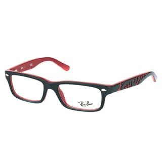Ray-Ban RY 1535 3573 Black On Red Plastic Rectangle 46mm Eyeglasses