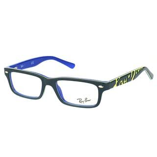 Ray-Ban RY 1535 3600 Dark Grey On Blue Plastic Rectangle 48mm Eyeglasses
