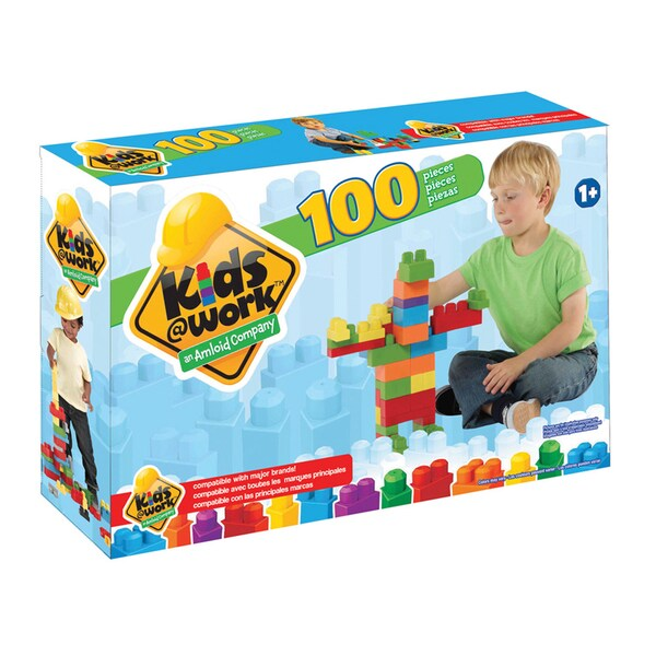 Kids @ Work Multi-colored Plastic 100-piece Boxed Block Set 18633869