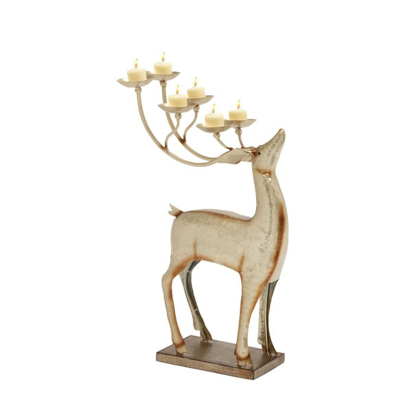 Enthralling Metal Deer Candle Holder