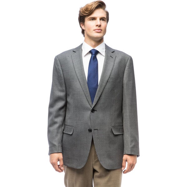 Men's Grey Check Wool Jacket