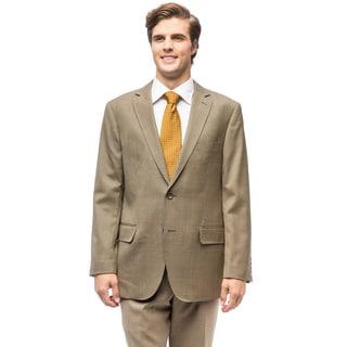 Men's Olive Wool Houndstooth Jacket
