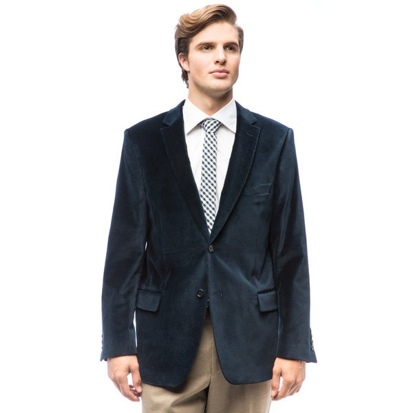 Men's Blue Velvet Jacket